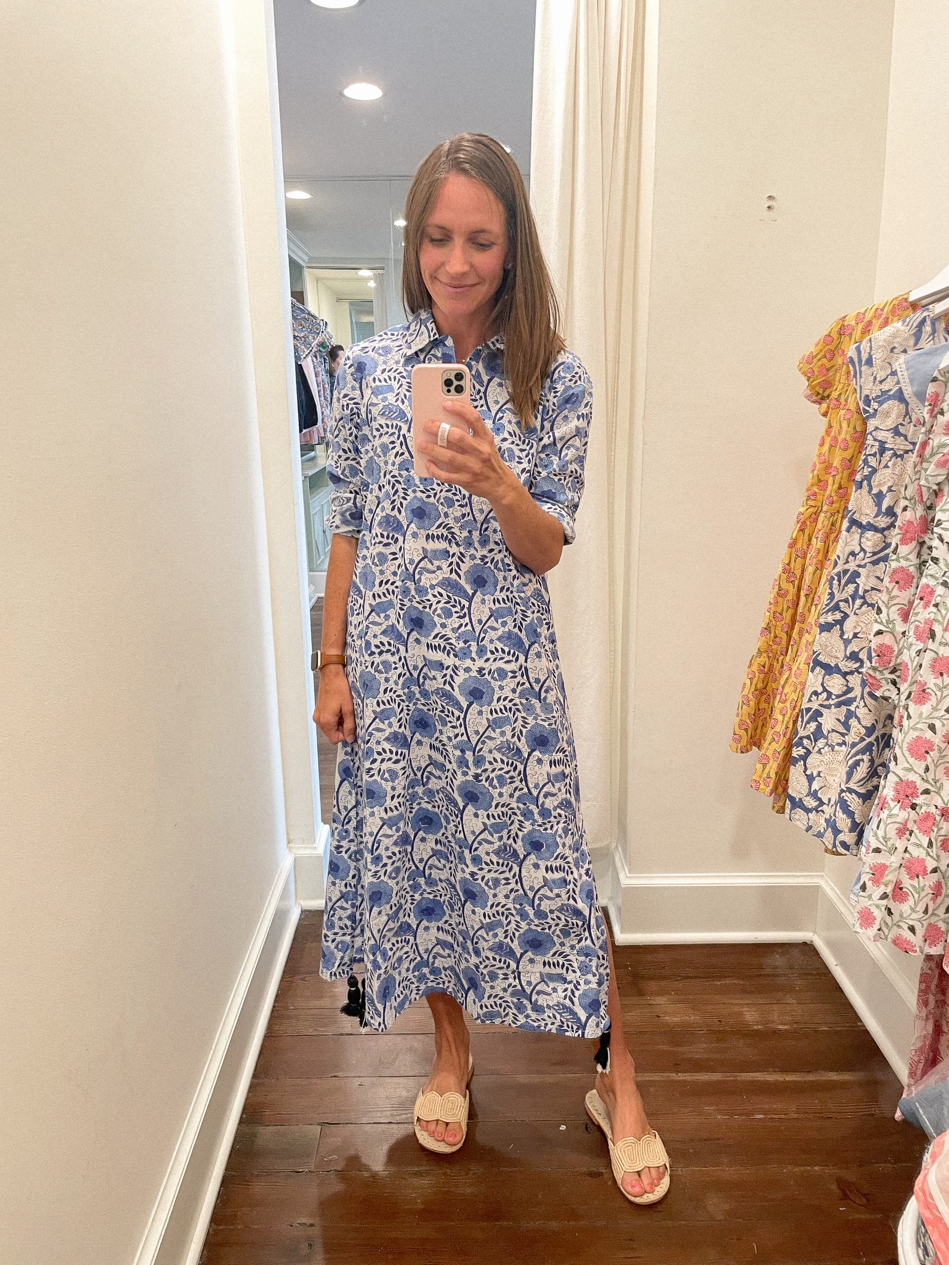 Darren dress - Madison Mathews - Madison Mathews discount code - madison mathews sizing - block print dress