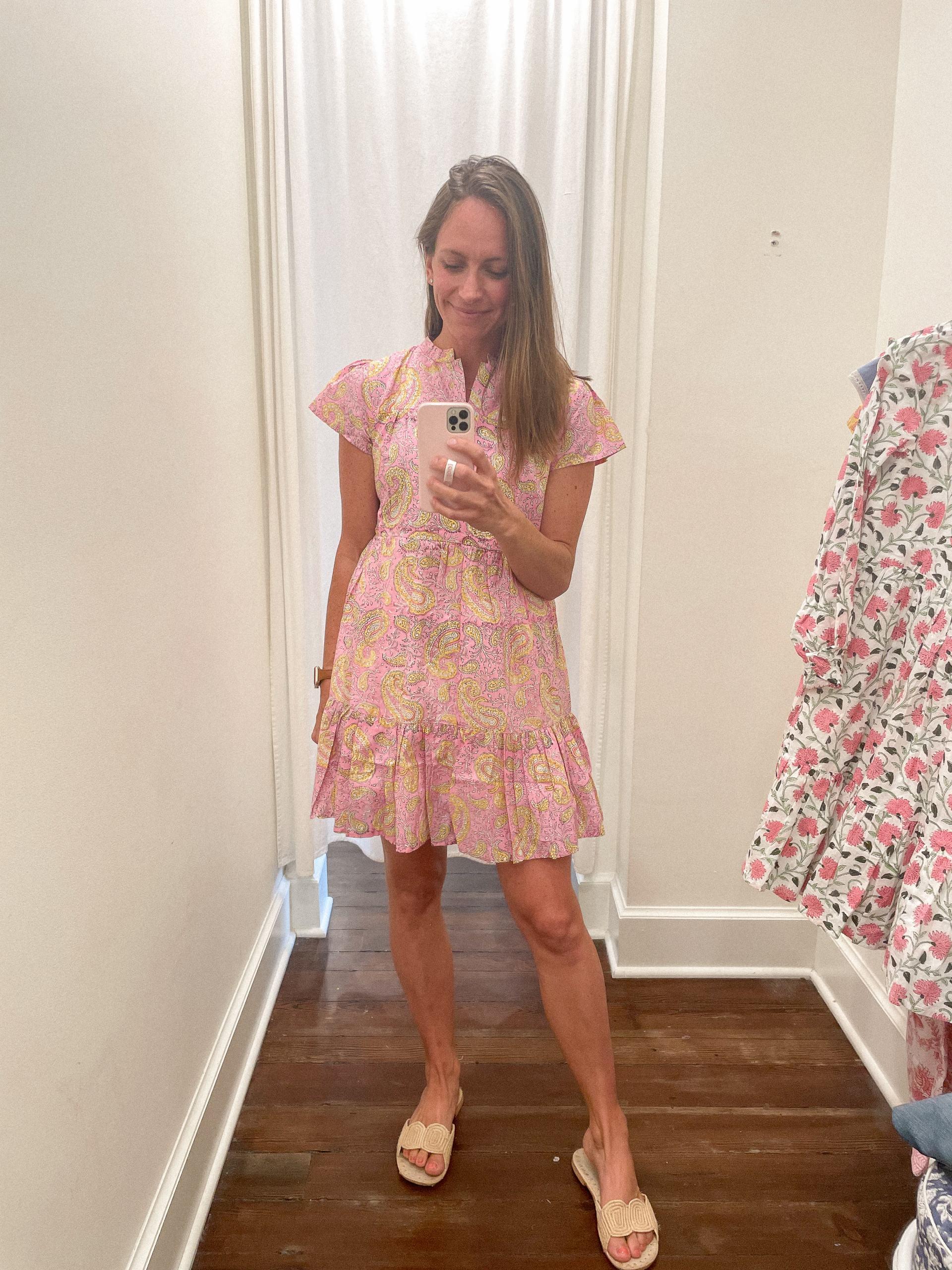 Folly mini dress - Madison Mathews - Madison Mathews discount code - madison mathews sizing - block print dress