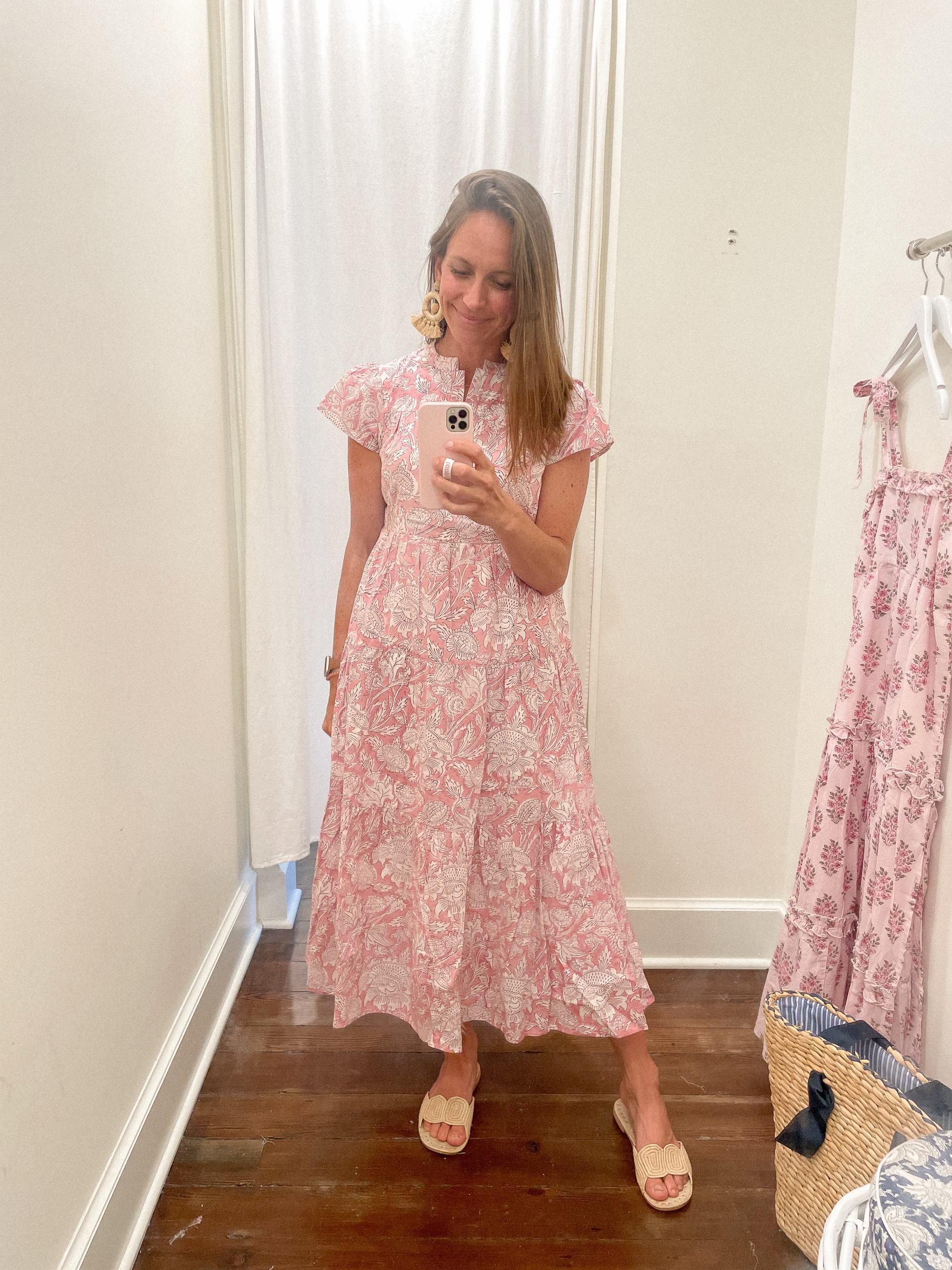 Folly midi short sleeve dress