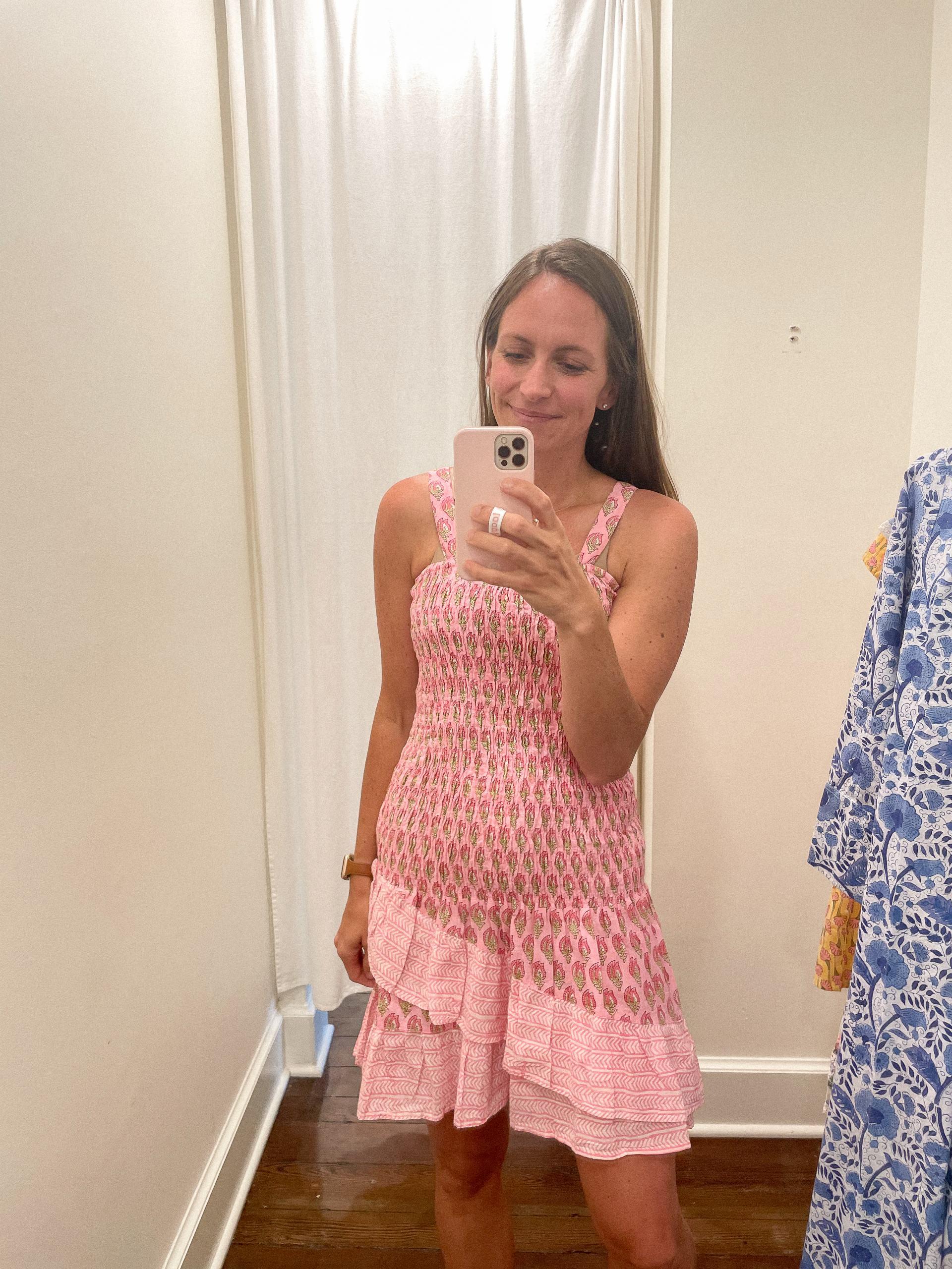 Mathews Dress - Madison Mathews - Madison Mathews discount code - madison mathews sizing - block print dress