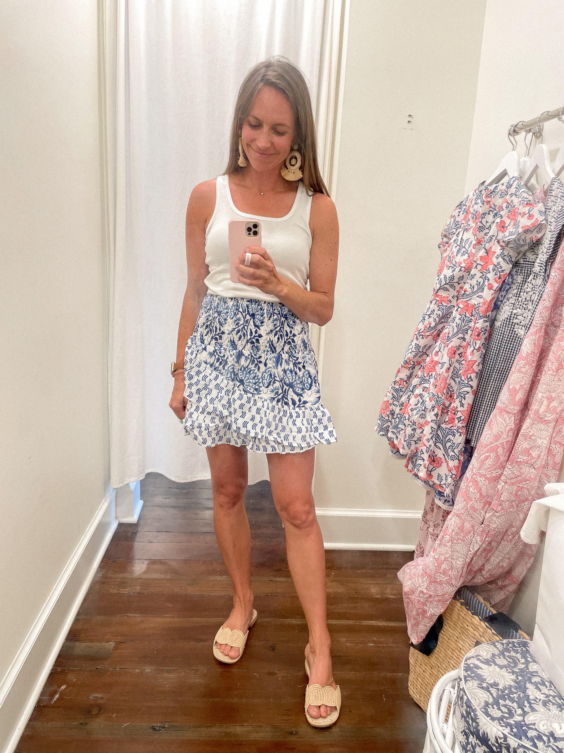 madison mathews mini skirt