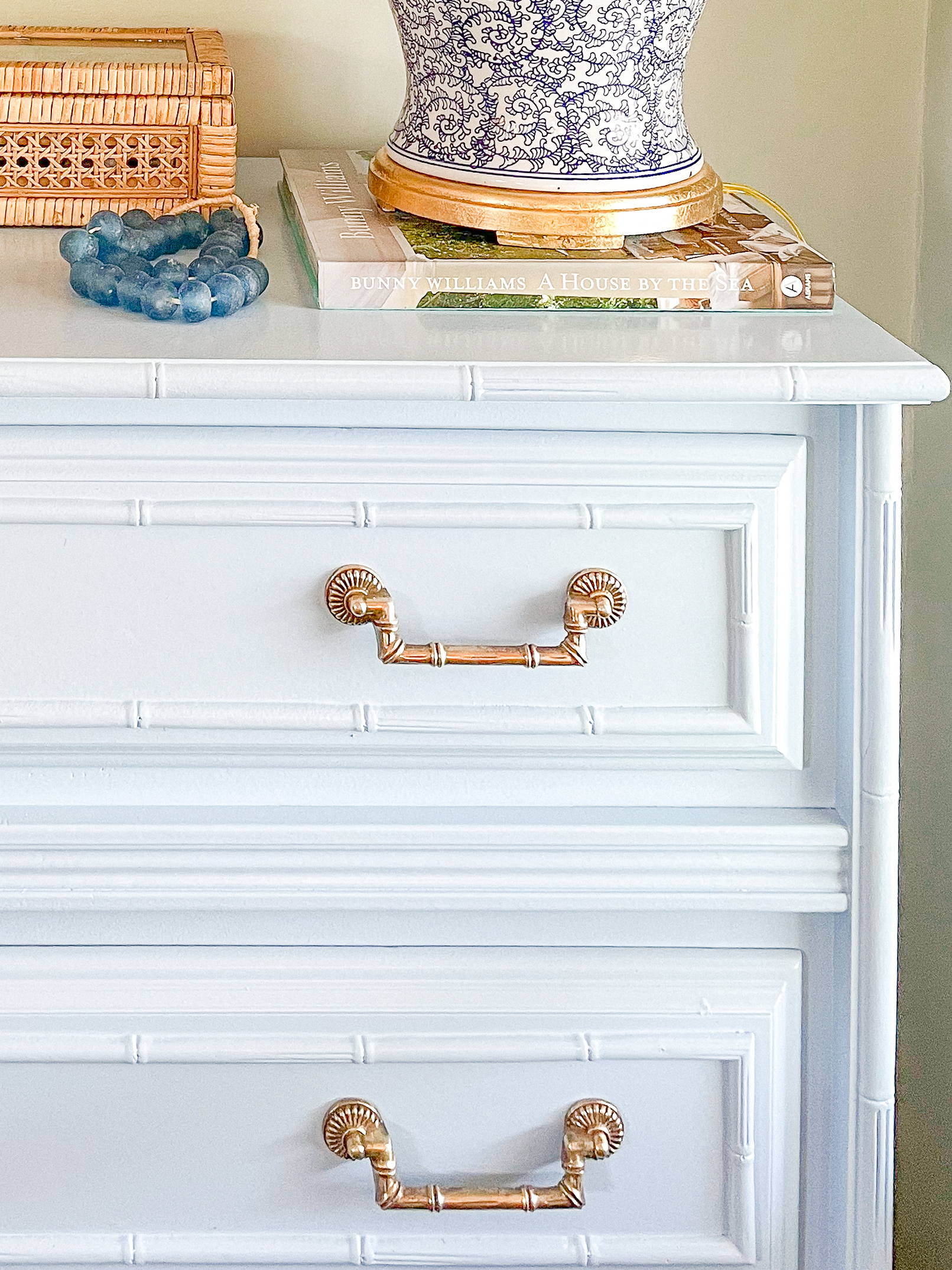 painted faux bamboo dresser