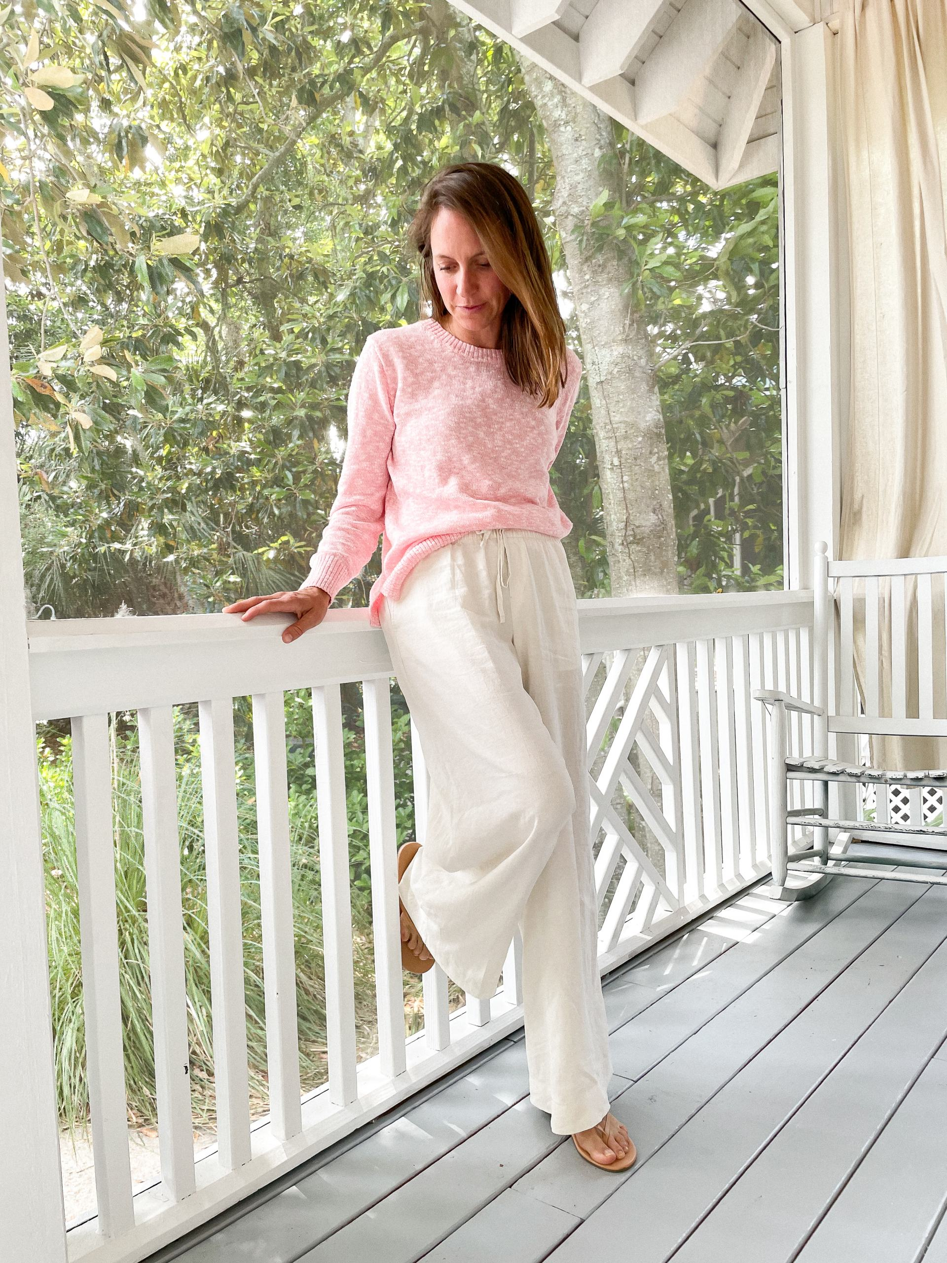 beach sweater with pants