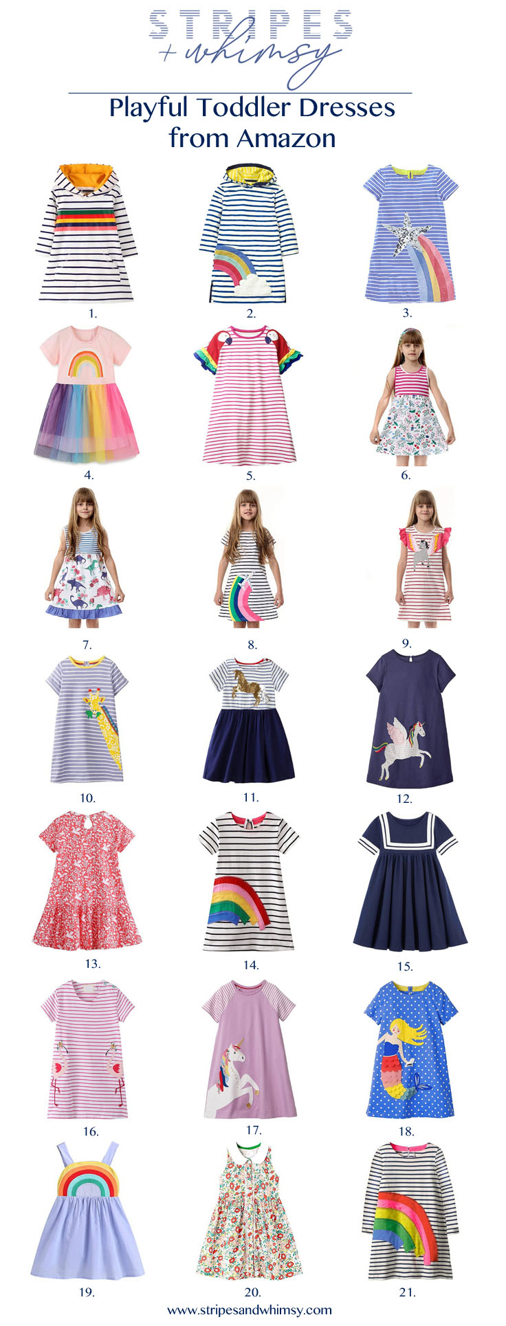Playful Toddler Dresses from Amazon