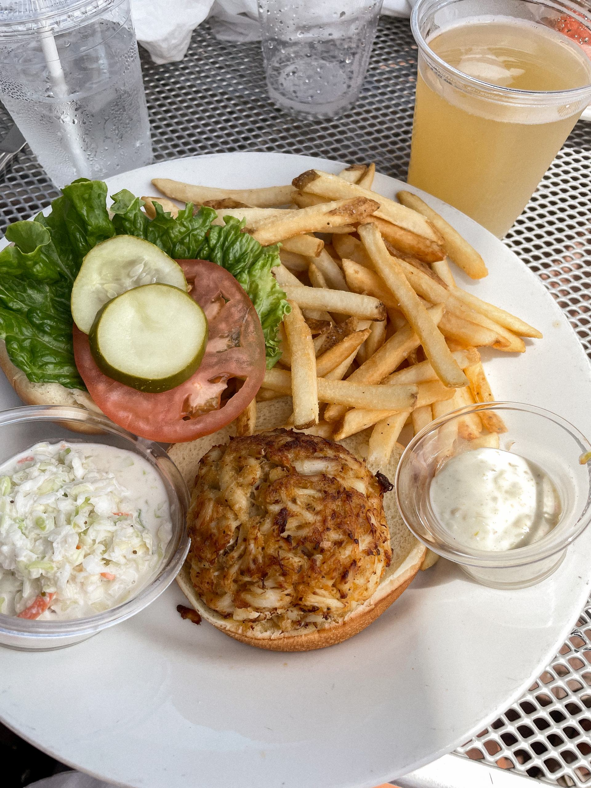 Tony and Joes crab cake sandwich