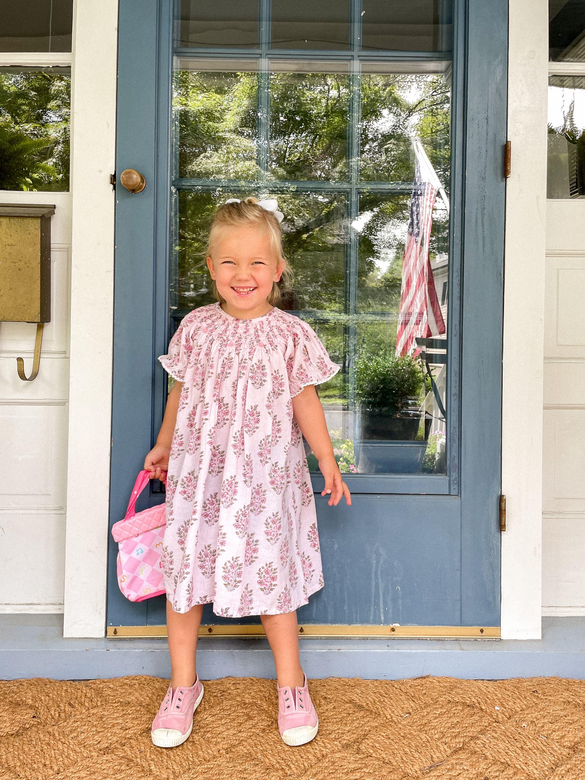 pink girls madison mathews dress