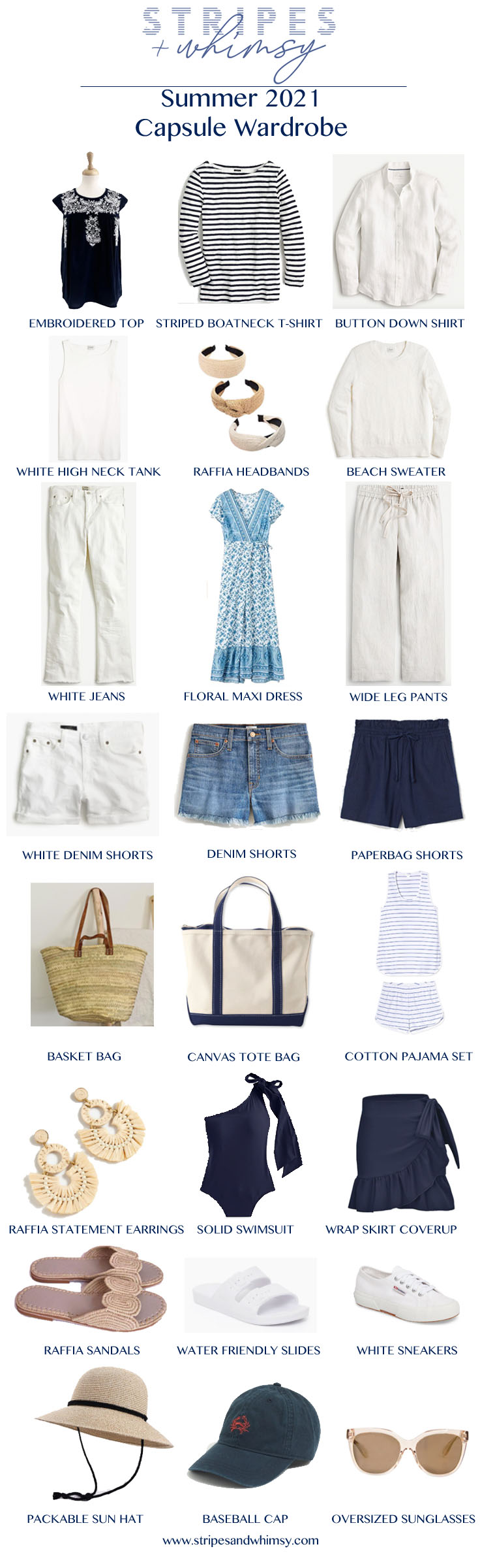 classic style summer capsule wardrobe
