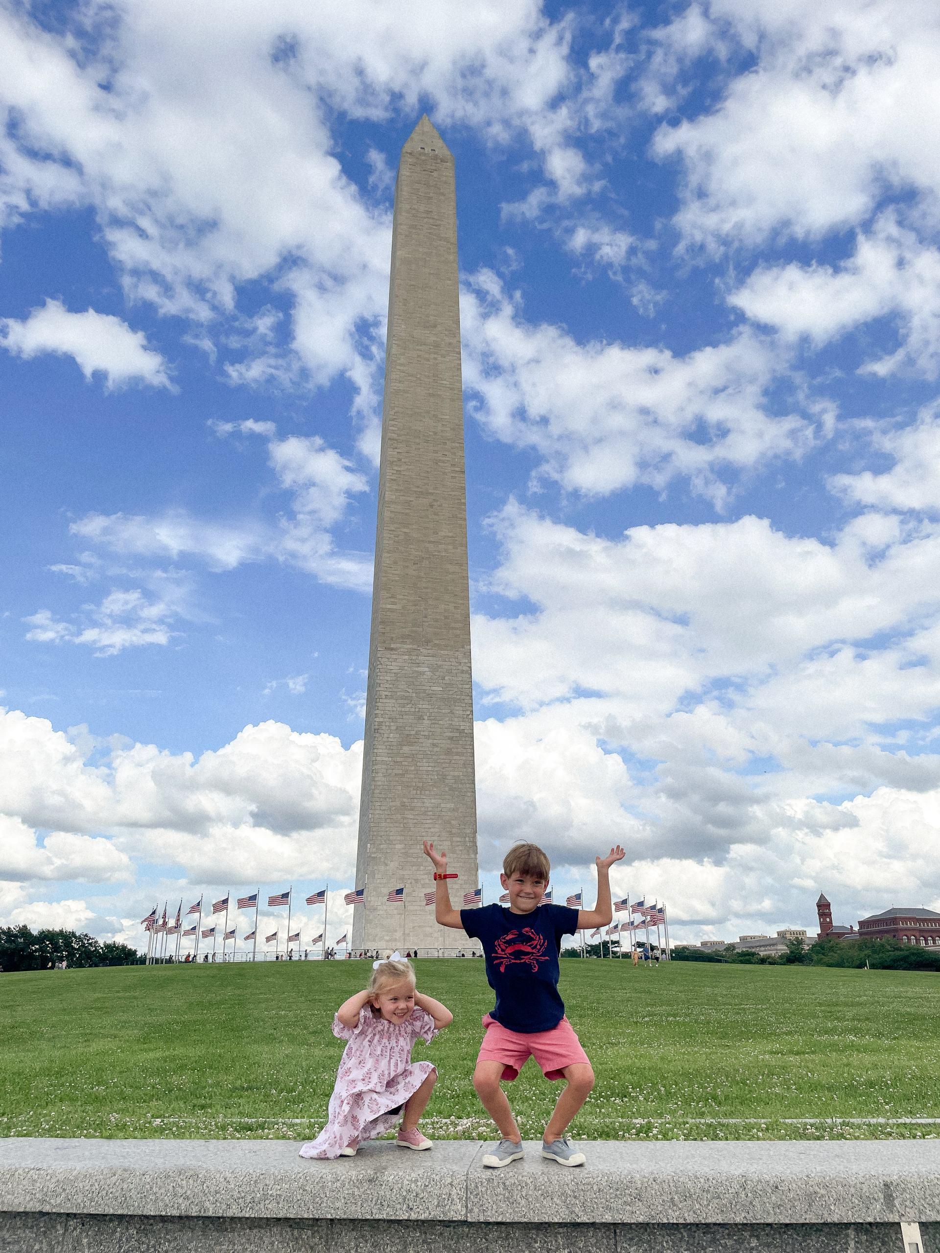 washington monuments kids
