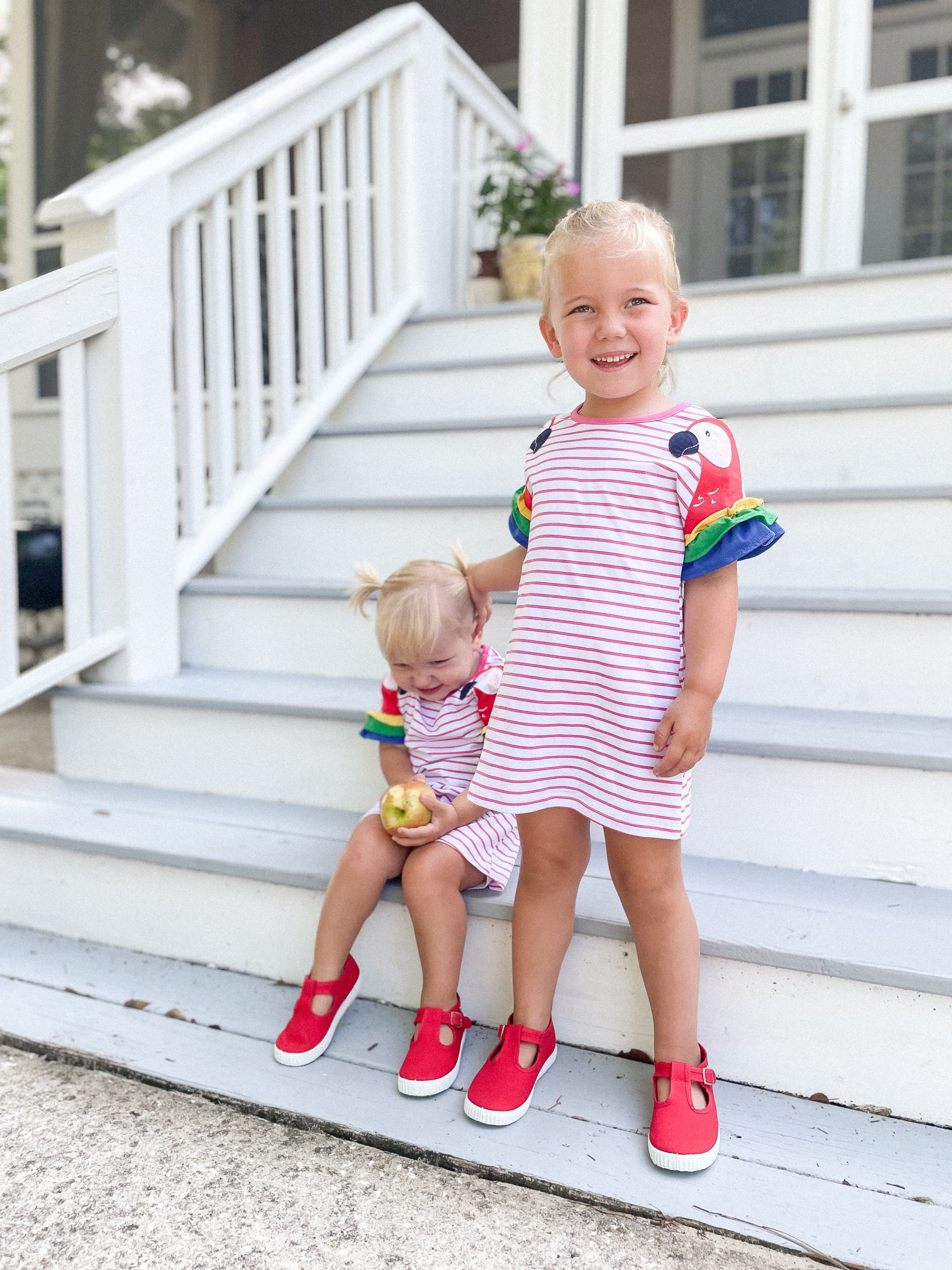 Jenzy shoes - Cienta t-strap sneakers - red Cientas - amazon toddler dress
