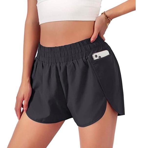 high rise running shorts