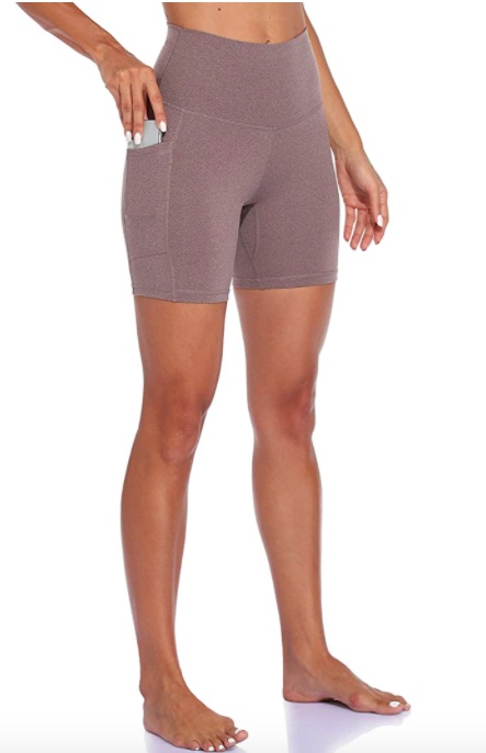 high rise bike shorts with pockets - colorfulkoala biker shorts - shorts under dresses