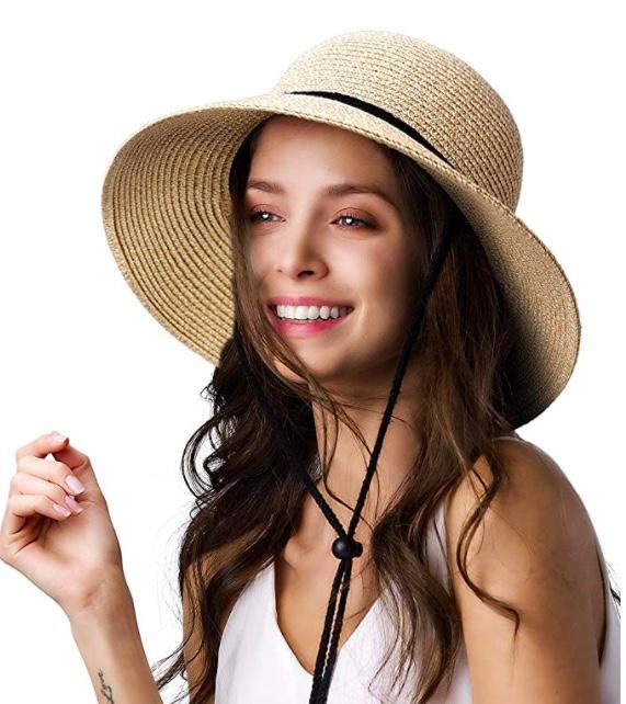 sun hat with lanyard