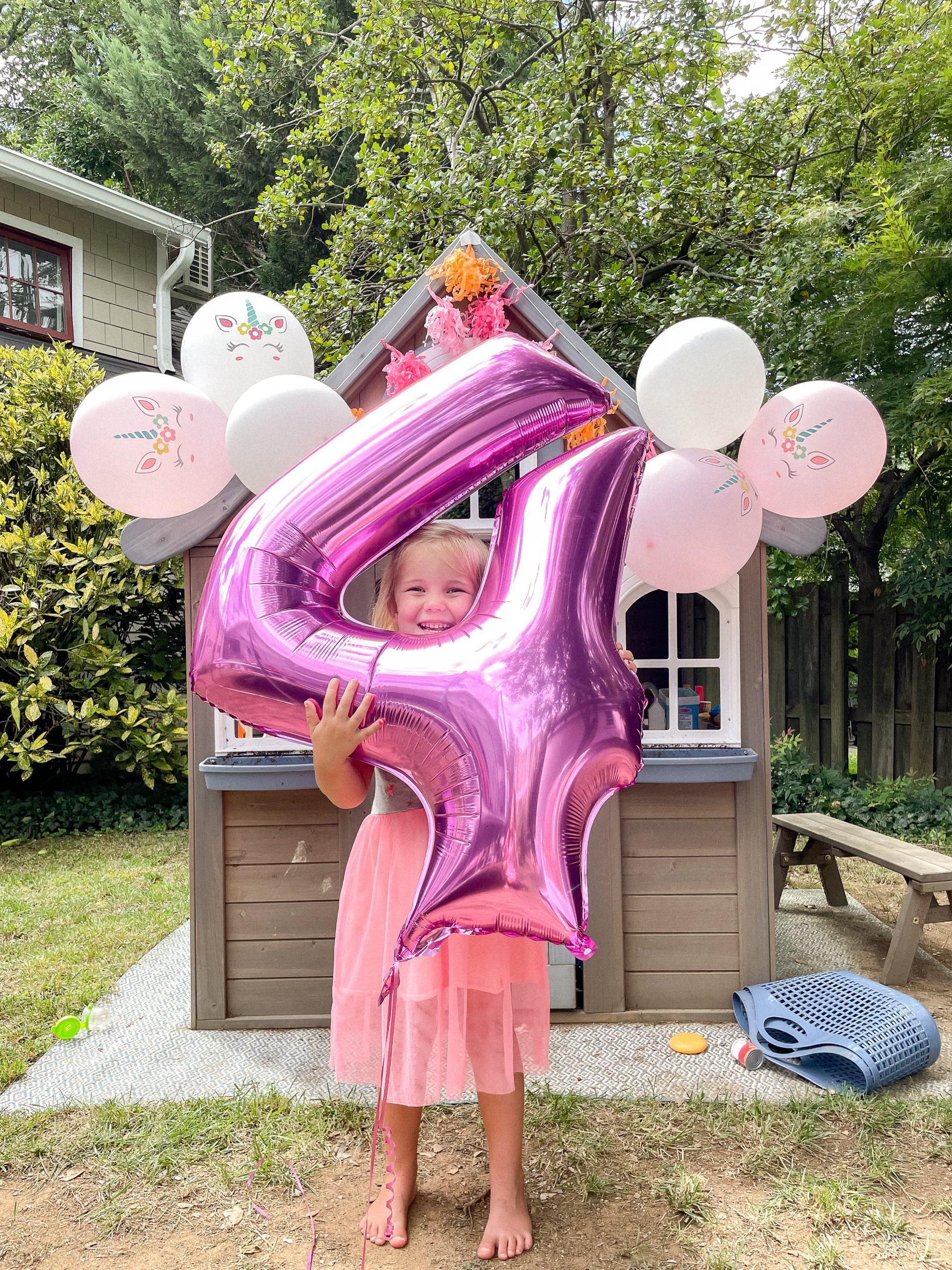 4th birthday party - unicorn party - 4th birthday party - birthday party ideas