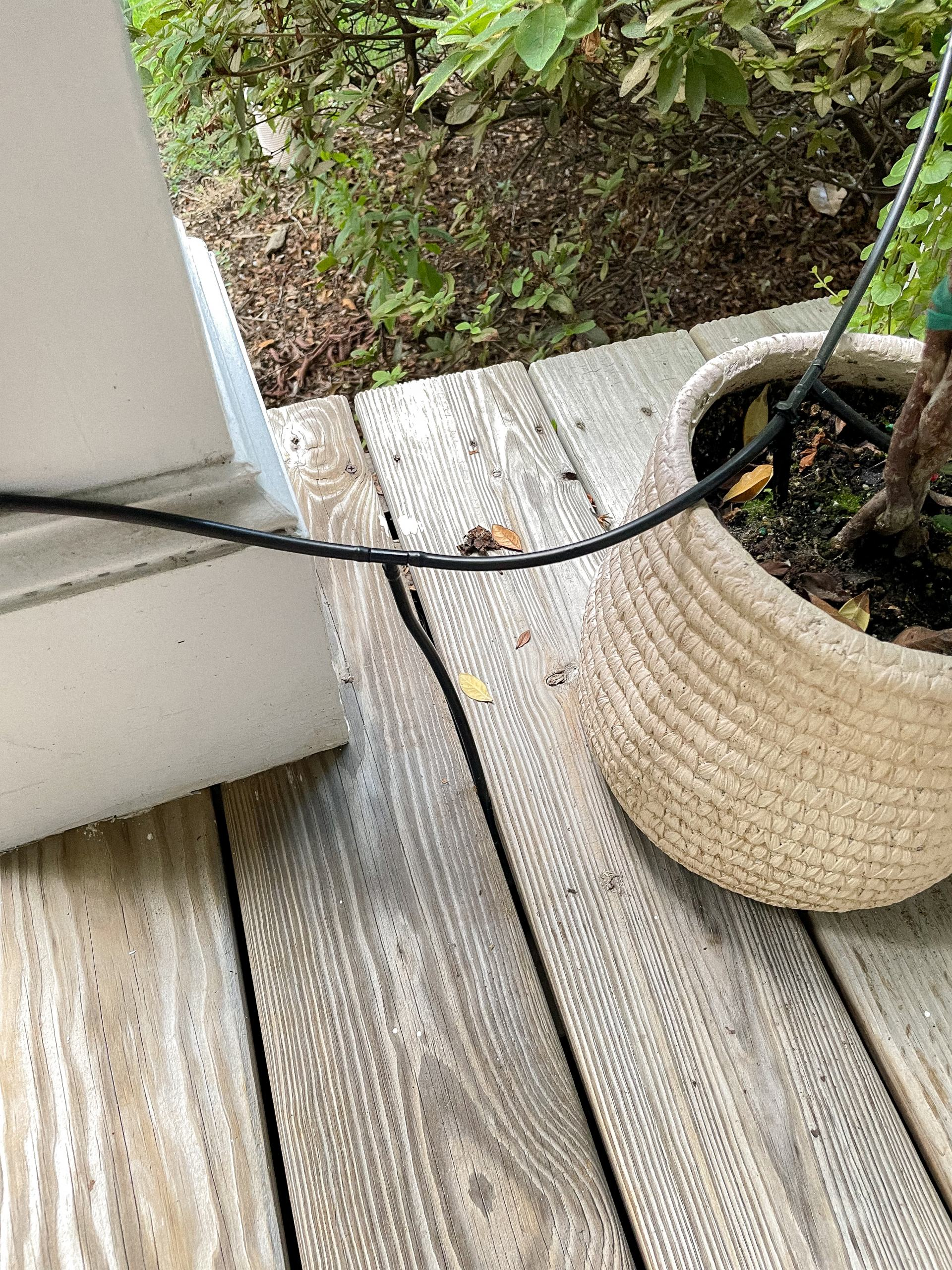 automatic watering system - amazon watering kit - potted plants - gardening tips - diy watering system - boxwoods - hanging boston ferns - flower box planning - craftsman front porch