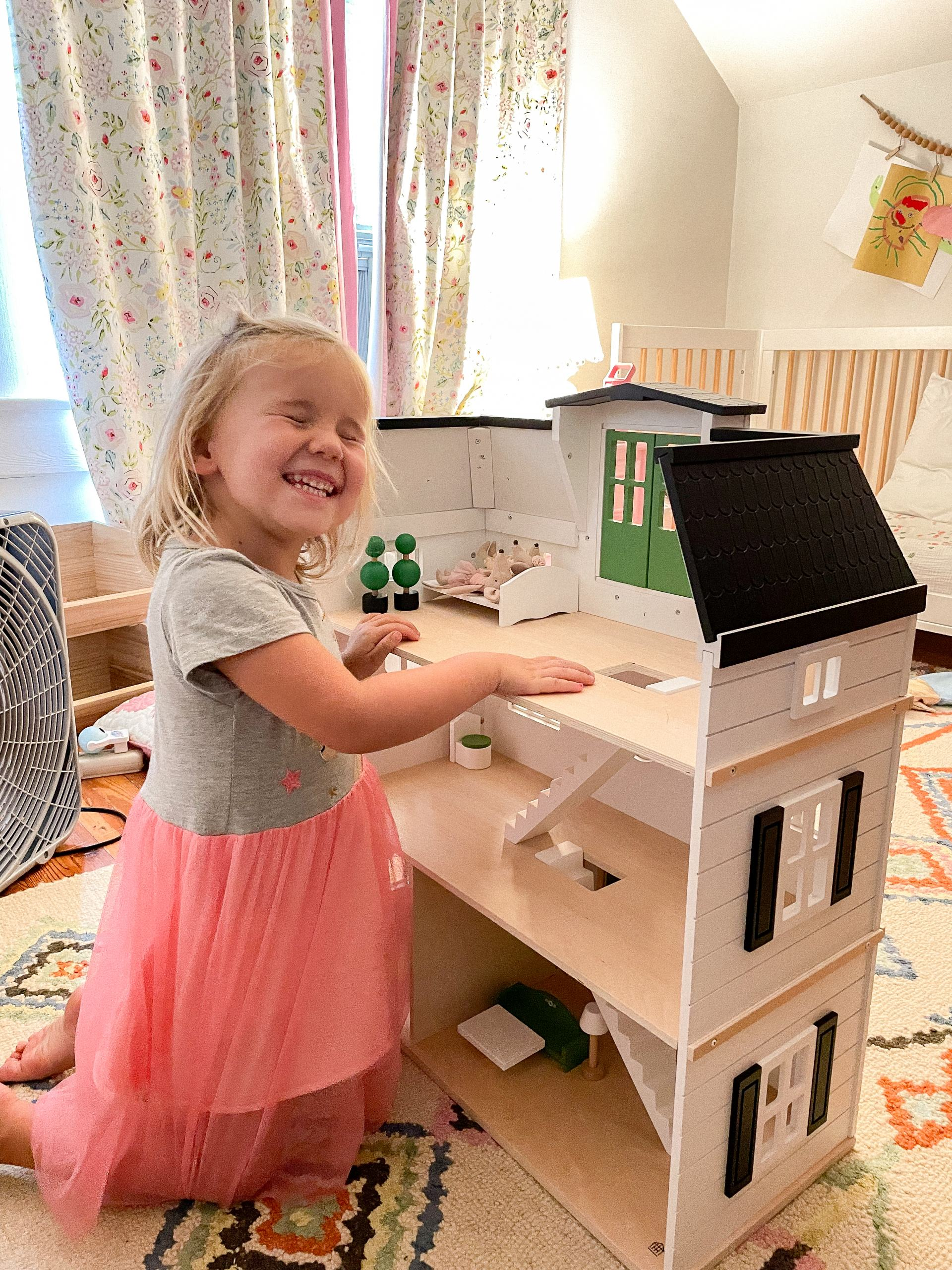 classic doll house - hearth and hand dollhouse - target dollhouse - white dollhouse - maileg mouse house