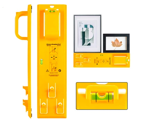 picture hanging tool with level